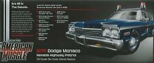 ERTL AMERICAN MUSCLE AUTO WORLD 1:18 DODGE MONACO NEVADA HIGHWAY PATROL ART 1009