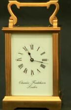 CHARLES FRODSHAM VINTAGE ENGLISH 8 DAY TIMEPIECE CARRIAGE CLOCK