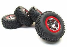 Nitro Slash TIRES & Wheels, with RED beadlock frt 5869 rear 5867 Traxxas 44056-3