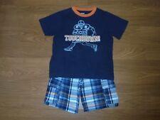 Gymboree Football Champ plaid cargo shorts & matching football shirt boys 3T
