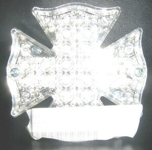 CLEAR MALTESE CROSS COMPLETE MOTORCYCLE TAIL LIGHT FOR HARLEY DAVIDSON