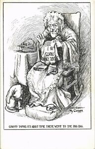 Religion Cartoon. State Church Pants. To the Rag-Bag by Hy.Coller.
