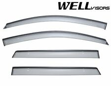 OPEN BOX WellVisors For 08-Up Dodge Journey BLACK Trim Side Window Visors Guard