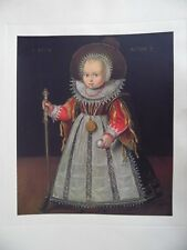 Portrait of Little Boy with a Golf Club, Print after Dutch Old Master
