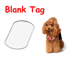 2 PCS Indication Army Engraved ID Name Pendant Anti-Lost Steel Stainless Pet Tag