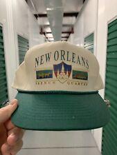 Vintage New Orleans French Quarter Snapback Colorblock 90s Green EUC Louisiana