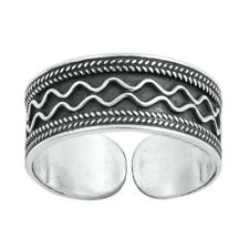 mm Solid Sterling Silver 925 Usa Seller Bali Design Toe Ring Face Height: 6