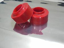 "JEEP XJ TJ ZJ  LIFT KIT 2"" Red  POLYURETHANE COIL SPRING SPACERS 4WD SET OF 2"