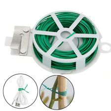 2*65ft Nylon Garden Twist Tie Plastic Cable Tie Wire Cable Reel With Cutter