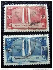 FRANCE - timbre - yvert et tellier n°316 et 317 obl - stamp french