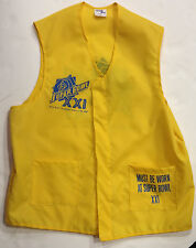1986-87 Super Bowl XXI Game Worn Media Sideline Vest w/ Pass NY Giants SIMMS COA