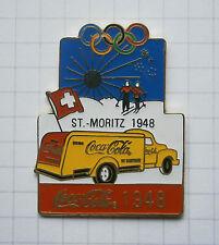 COCA-COLA / OLYMPISCHE SPIELE ST. MORITZ 1948 TRUCK ... Pin (131d)