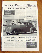 1940 De Soto DeLuxe Coupe Ad Are you Ready to Trade your 1936 37 38 Car?