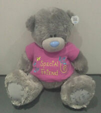 """ME TO YOU BEAR TATTY TEDDY NEW FUR 16"""" SPECIAL FRIEND PINK T-SHIRT BEAR GIFT"""