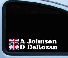 4x Personalised Rally Car Flag and Name Vinyl Decal Stickers