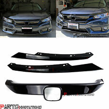 RS Turbo Extension Assy Glossy Black Grille Kit for 16-17 Honda Civic 10th Gen X