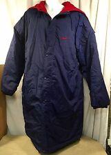 VTG Nike 90's Parka Stadium Jacket Coat Hooded Blue Quilted Lining Size XL