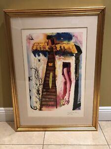 """Salvador Dali """"GROWING""""  VERY RARE- Original Hand Signed- COA"""