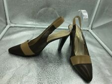 Russell & Bromley 6 39 Brown Mid Heel Court Slingback Shoes