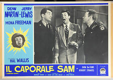 FOTOBUSTA 6, IL CAPORALE SAM Jumping Jacks JERRY LEWIS, COMICO, MOVIE POSTER