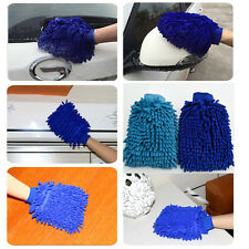 Microfiber Car Wash Washing Cleaning Mitt Glove Polishing Duster Clothes Towel