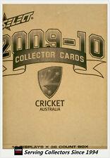 2009-10 Select Cricket Trading Cards Factory Case (16 Boxes + Case Card)