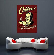 Spoof Retrò Caffè Cibo Bere Poster Art Print XXL GIGANTE wa268