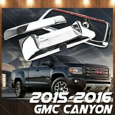 For 2015-2016 GMC Canyon Chrome Tailgate Handle Cover Molding With Camera Cutout
