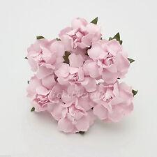 25 Shabby Pink Paper Flower Scrapbook Home Decoration Basket Doll Cards ZR21-2