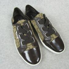 Calvin Klein Womens Size 8 Trinah CK Signature Jacquard Sneakers Shoes Cocoa