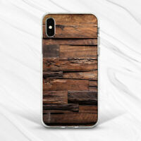 Vintage Brown Dark Wood Minimalist Case For iPhone 6 7 8 Xs XR 11 Pro Plus Max