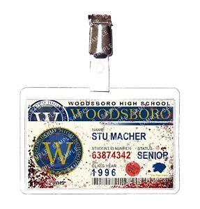 Scream Woodsboro Student Stu Macher Blood Cosplay Film Prop Comic Con Halloween
