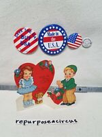 ❤Vintage Die Cut Valentine What's the Story Morning Glory  Puppy/Girl/Boy/Flower