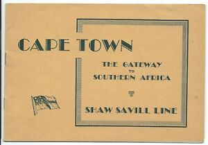 SHAW SAVILL LINE Cape Town South Africa illustrated visitors guide c1950 six pix