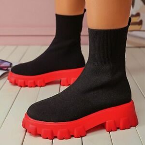 Women Winter Shoes Slip On High Ankle Warm Outdoor Rubber Platform Fashion Boots