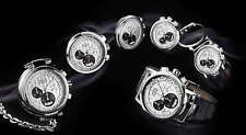 Parmigiani Transforma Steel Automatic Chronograph. Convertible Pocket Watch. New