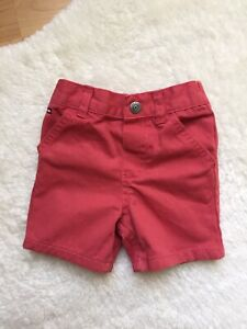 Tommy Hilfiger Baby Boys Salmon/Red Shorts Size 3-6  Months