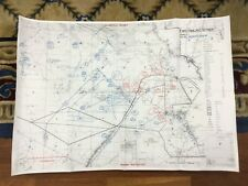 Gulf War Map Desert Storm RAF Military Operations 1991 Iraq Kuwait Middle East
