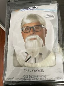 The Colonel Sanders Uncle Sam Men Costume Wig & Moustache and Tie