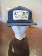 Vintage Trailcraft Trailers Snapback Hat Mesh Trucker Boating fishing
