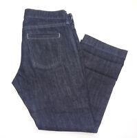 Old Navy Womens Jean Capris Size 4 Dark Wash Blue Mid Rise Cropped Denim Pants