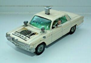 "CORGI RARE WHITE THUSH BUSTER OLDSMOBILE 88 MAN FROM UNCLE CAR 4.25"" MECH WORKS"