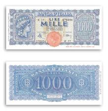 RIPROD. 1.000 LIRE TURRITA BANCONOTA LUOGOTENENZA LIRA ITALIANA 10000 MONETA FDS