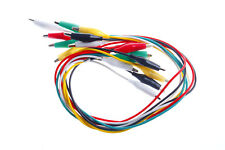 10Pcs Double-ended Crocodile Alligator Clips Test Leads Jumper Cable Wire Uz