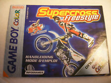 Retrogaming NINTENDO GBA Game Boy COLOR Notice SUPERCROSS FREESTYLE manual