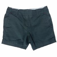 Tommy Hilfiger Shorts Solid Black Chinos Bottoms Mid Length Womens Size 6