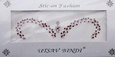 Bindi rouge bijoux de peau mariage autoadhesif strass front sourcils  3467