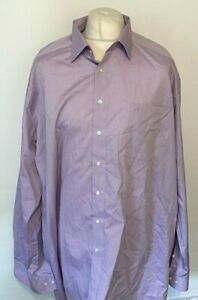 "Olymp Luxor Men's Formal Shirt Purple 19"" 48 100% Cotton L/S"