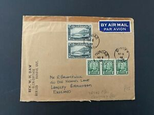 Postal History Canada 1953 Cover with a Pair of Quebec Bridge Stamps