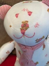 Ralph Lauren stuffed teddy bear polo bear new gift toy pink  white baby girl new